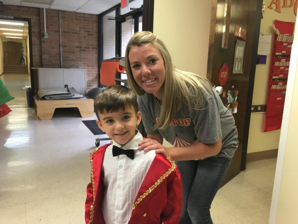 Max and his speech therapist, Rachel Jones, prepare for Max's role as Ringmaster in the annual ACCESS Circus.
